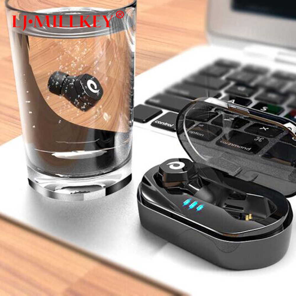 True Wireless Earbuds with Charging Box Mini Touch Control Wireless Headset In-ear TWS Bluetooth Earphone for phone YZ186