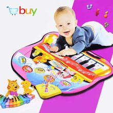 Large Baby Musical Carpet Music Piano Play Mat Keyboard Playmat Puzzle Early Learning Educational Toys for Children Infant Gifts(China)