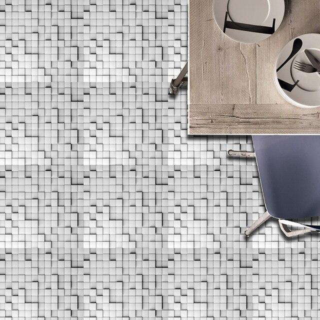 20pc Lot Modern Square Pvc Imitation Tile Stickers High End Waterproof Anti