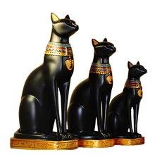 Estantería de libros de resina con adornos creativos de Dios y gato egipcio, decoración para el hogar, accesorios para regalo de cumpleaños