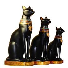 Kreatywny egipski kot bóg ozdobne rękodzieła z żywicy książka półka pulpit kot miniaturowa figurka akcesoria do dekoracji domu prezent urodzinowy