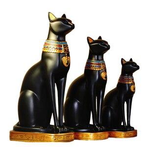 Image 1 - Sáng Tạo Chú Mèo Ai Cập Thần Đồ Trang Trí Nhựa Hàng Thủ Công Sách Tạm Gác Máy Tính Để Bàn Mèo Thu Nhỏ In Hình Hoa Lá Trang Trí Nhà Phụ Kiện Quà Tặng Sinh Nhật