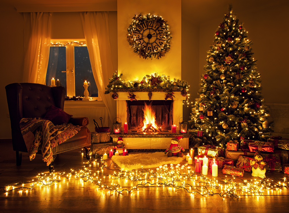 christmas backdrop tree gifts backgrounds for family party. Black Bedroom Furniture Sets. Home Design Ideas