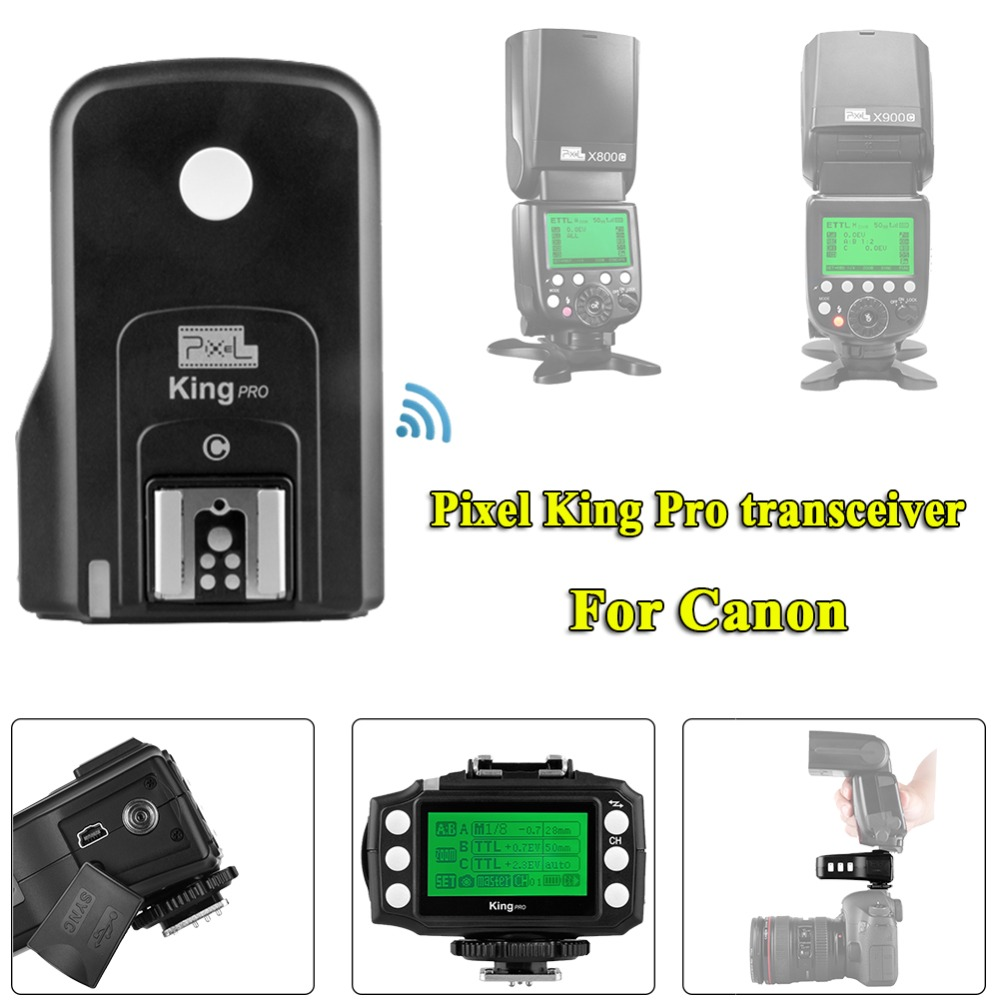 Pixel King PRO Transceiver 2.4G Wireless TTL High Speed Flash Trigger Transceiver For Canon 1100D 1000D 700D 750D 760D 650D 600D