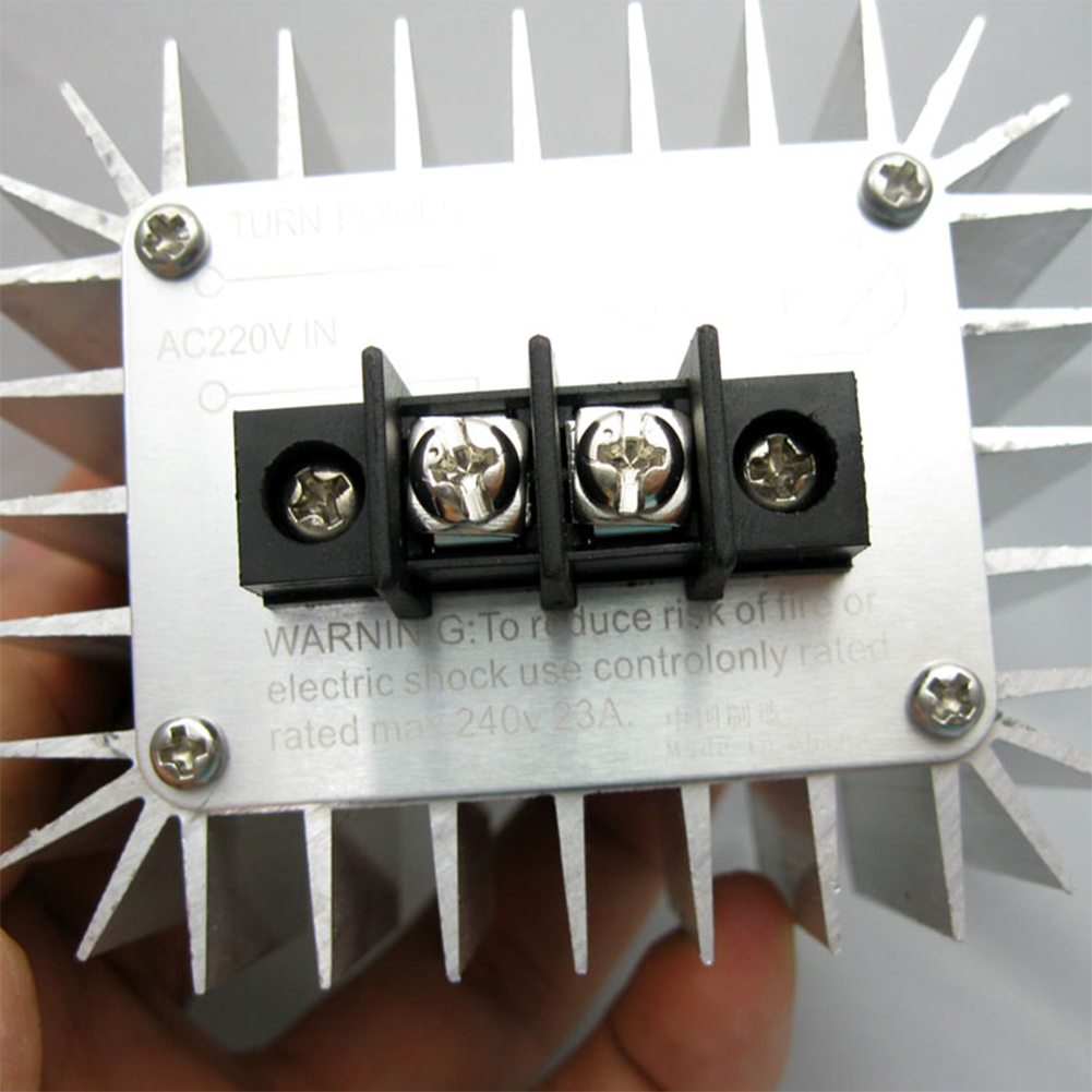 все цены на AC 5000W SCR Voltage Regulator Speed Controller Dimming Dimmers Thermostat онлайн