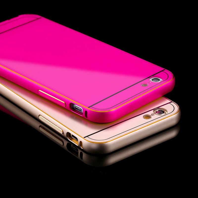 Para el iphone Caso 5S 0.5mm Delgada de Lujo Del Metal de Aluminio + Plástico ca
