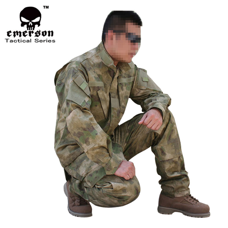 Emersongear New! Military BDU Hunting Combat Suit BDU A-TACS/FG COAT+PANTS EM6923 ggmm earphone for phone in ear stereo earphone bass hands free earphone with mic ear headsets gaming earbuds for iphone samsung