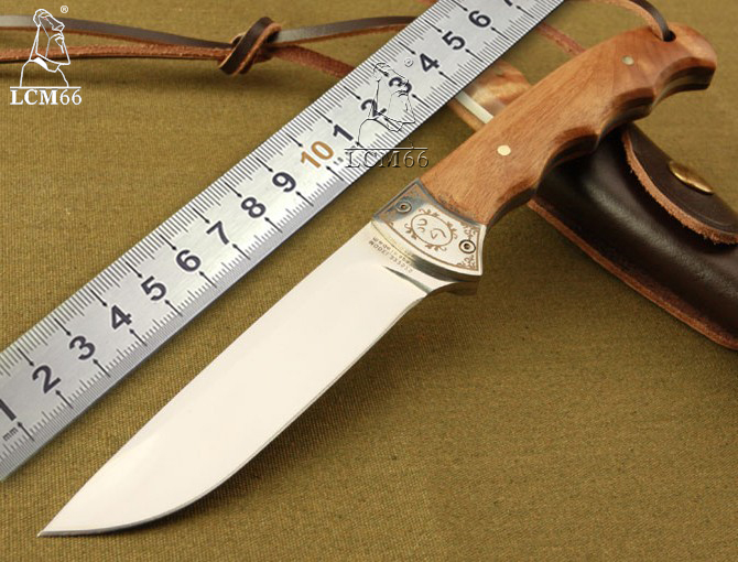 LCM66 High-quality wooden small hunting knife Fixed blade Browning shadow tactical knife outdoor hunting camping knife tool gift high quality tactical outdoor view wind duck for hunting target cl38 0006