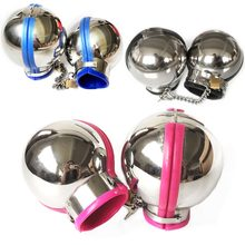 Couple sex toy 3pcs set stainless steel Bondage hood + ball cuffs for sexual restraints Sex wives kit adult sex games for Unisex(China)