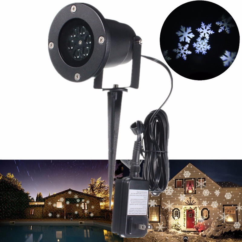 Christmas Lawn Lamps Outdoor LED Snowflake Projector Light Star Light IP65 Waterproof Snow Lasers Lights for Garden decoration