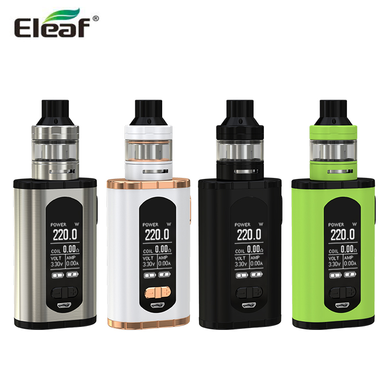 Original Eleaf Invoke with ELLO T Kit 220W Invoke Box MOD with 2ml / 4ml ELLO T Tank Atomizer Electronic Cigarette Kit in stock original eleaf invoke 220w with ello t tc kit with 2ml ello t tank extendable to 4ml