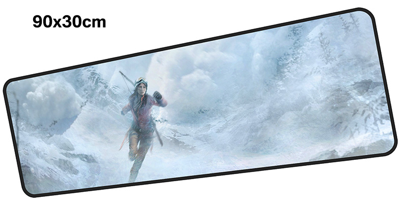 tomb raider mouse pad gamer 900x300mm notbook mouse mat large gaming mousepad Customized pad mouse PC desk padmouse accessories