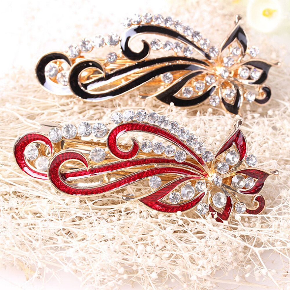 Fahsion Girls Barrettes Shinning Crystal Rhinestones Hairpin Vintage Flowers Women Hair Clip Jewelry Accessories 2017 design ultrathin led flood light 70w cool white ac85 265v waterproof ip65 floodlight spotlight outdoor lighting cool warm