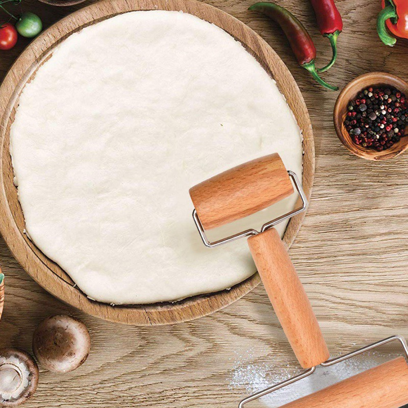 Wooden Rolling Pin Pastry Pizza Cookie Dough Hand Rolling Pin Kitchen Tool US
