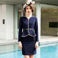 2020 New Arrival Autumn Casual Slim Pencil Dress Long Sleeve Office Lady Elegant Formal Business Work Wear Uniform Women Dresses