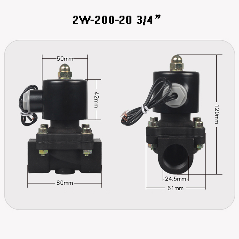 New 2 way Brass coil Air gas water plastic solenoid valve 1 4 quot 3 8 quot 1 2 quot 3 4 quot 1 quot 1 2 39 39 Normally close Engineering plastics valve in Valve from Home Improvement