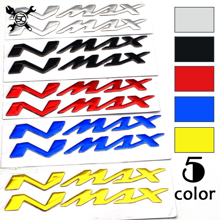 Motorcycle Decals Stickers Emblem Badge 3D Decal Raised Tank Wheel Tank Decals Applique Emblem For Yamaha NMAX155 NMAX 155 125