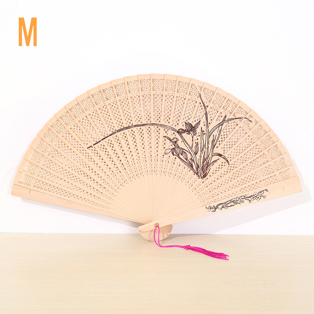 Wooden Hand Folding Fans Wedding Favors And Gifts For Guest Crafts Bamboo Fan Summer Accesory Art