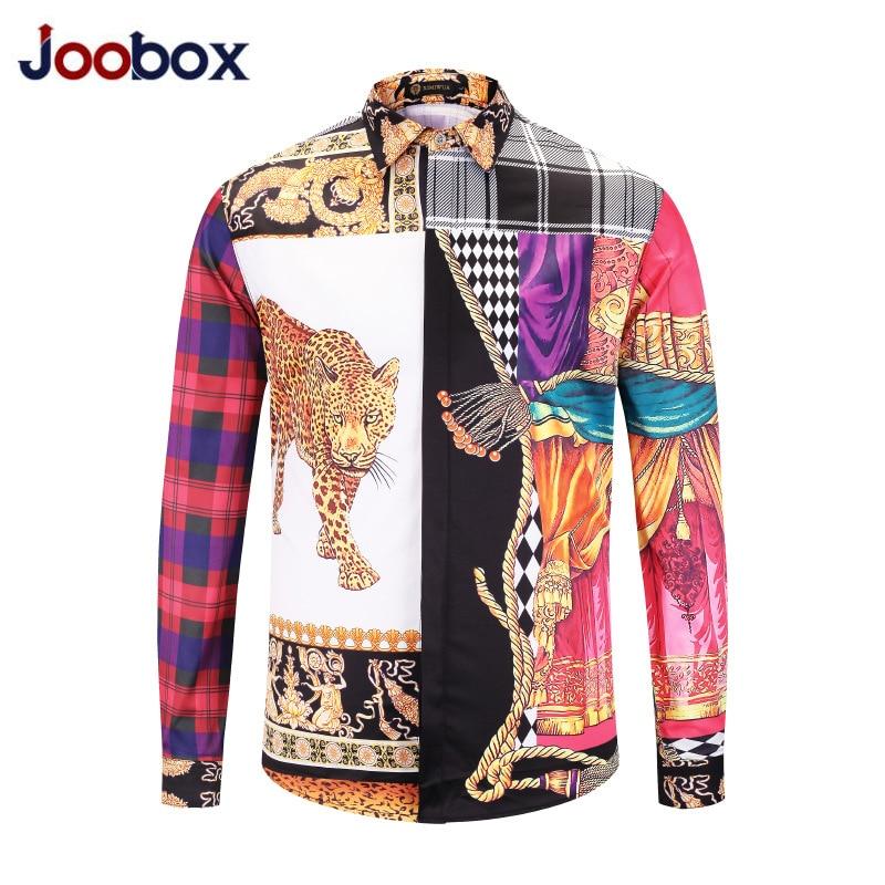 Luxury Brand clothing Dress shirts 3D print Medusa shirts men long sleeve party club designer tops man nightclub snake shirts