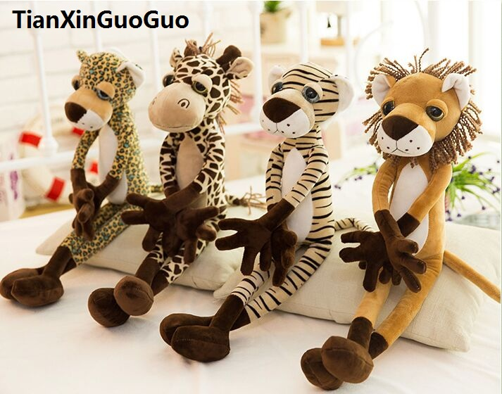 stuffed plush toy about 60cm jungle series  animal lion, tiger , leopard, giraffe plush toy soft doll Christmas gift w2998 stuffed animal 120cm simulation giraffe plush toy doll high quality gift present w1161