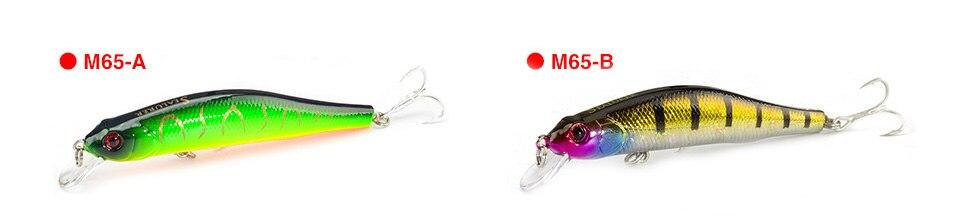 Minnow Fishing Lure 3D Eyes 10cm 7g Wobbler Bass Pike Baits Spinner Baits AB