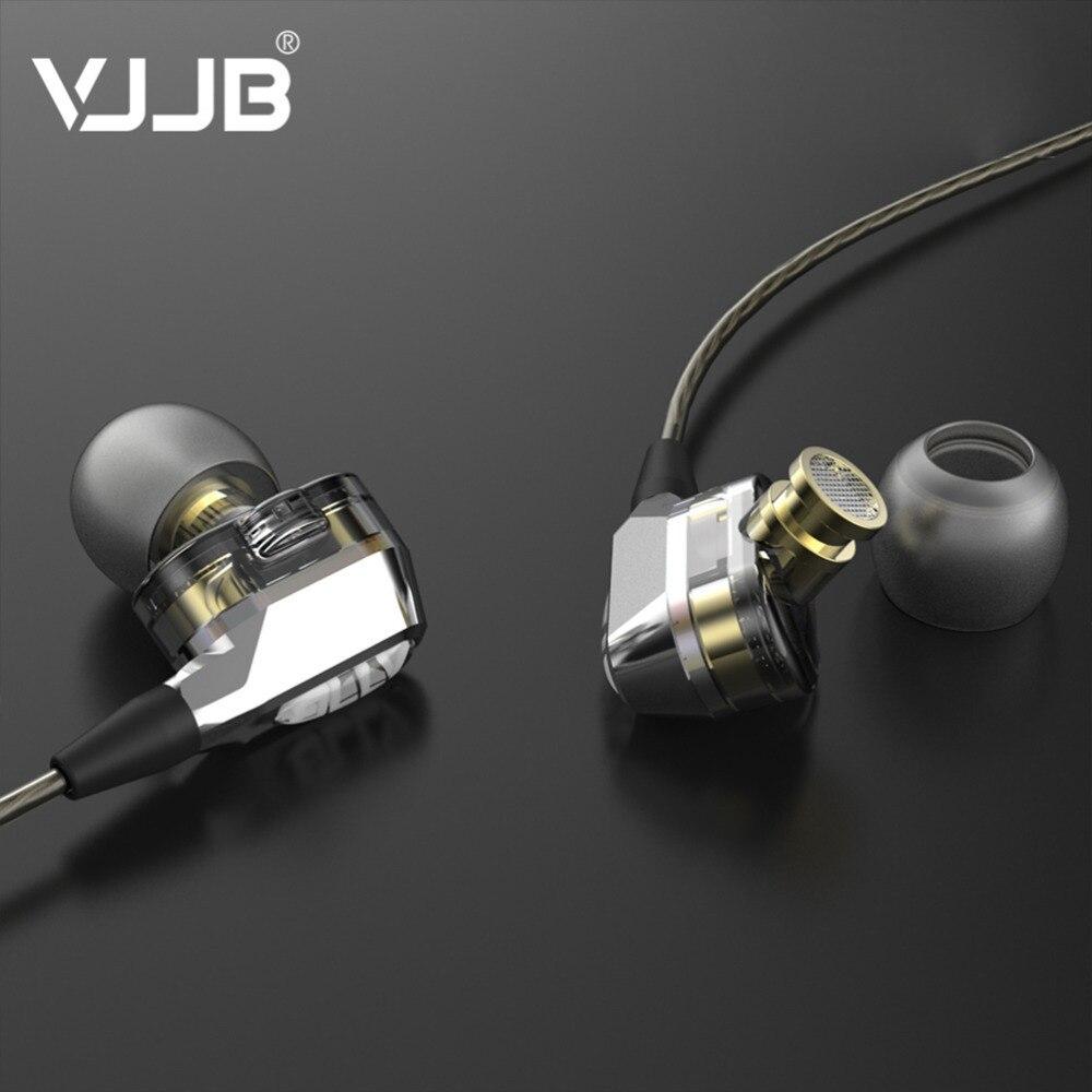 Original VJJB V1/V1S 4 Speakers Hifi Earphone Double Circle Stereo Headphones Subwoofer Earbuds Monitor Headset fone de ouvido razgrom ukrainskij vojsk v stepanovke chast 1