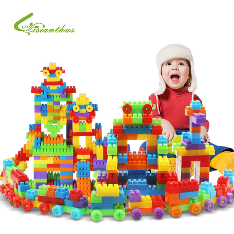 Children Toys Building Puzzle Toy DIY Assembling Classic Early Educational Learning Toys Baby Intelligence Development Tool 12 pieces children puzzle toy building blocks