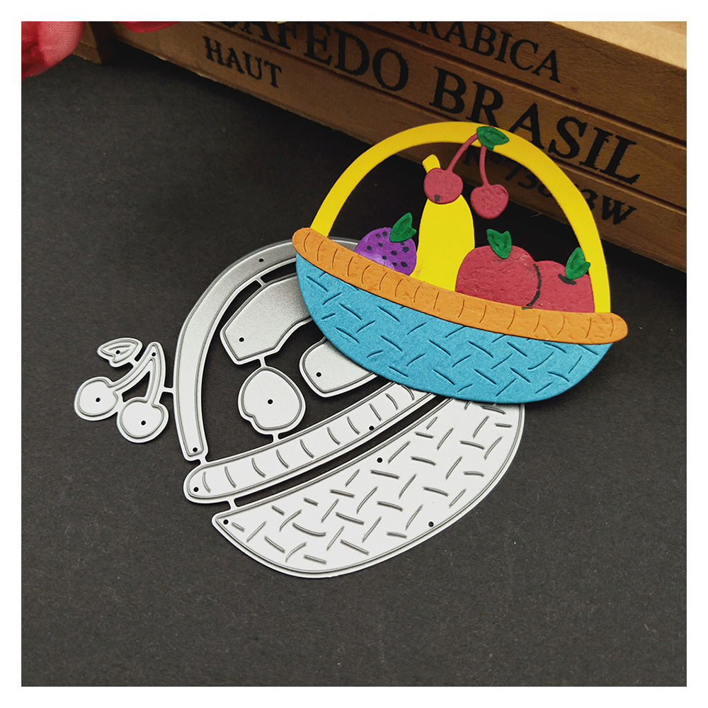 HamyHo Metal Cutting Dies Weave Fruit Basket Dies Cut Scrapbooking Stamping Dies Album Card Photo Decorate Craft 2018 New