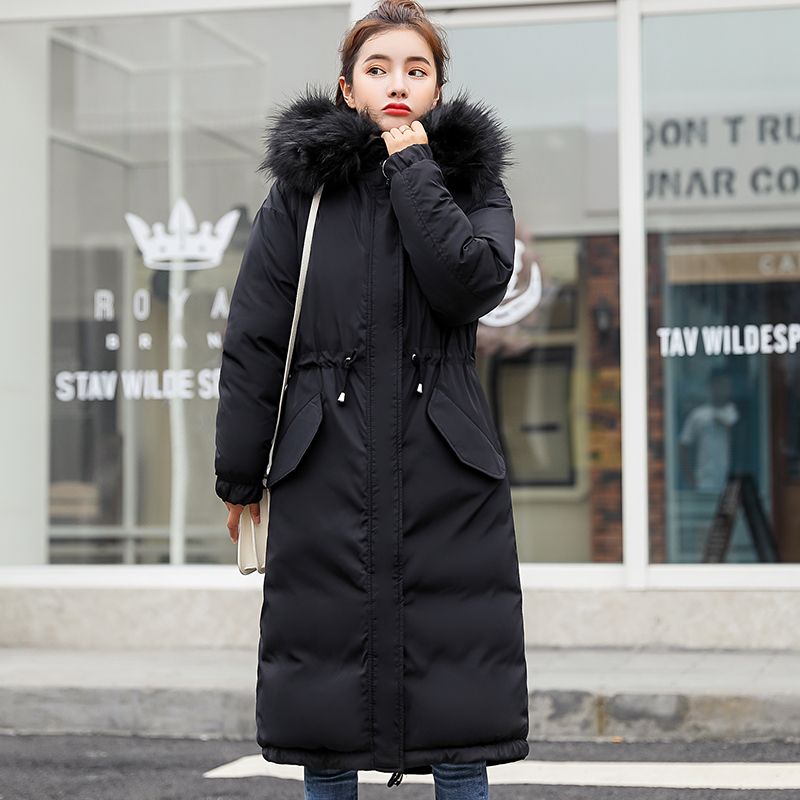 New Arrival Fashion Womens Winter Jacket 2019 High Quality Ladies Coat Long Parka Hooded With Fur Warm Outwear Parkas Womens-in Parkas from Women's Clothing    3