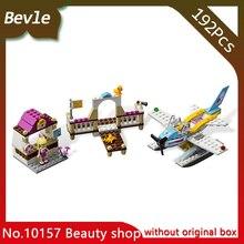 Bevle Store Bela 10157 194Pcs Friends Series Love Lake Flight Club Model Building Blocks Bricks Toys compatible  LEPIN 3063