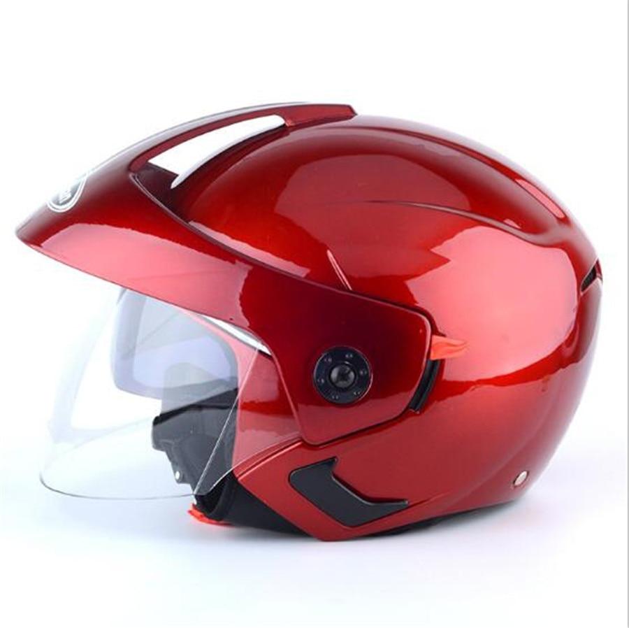 Femmes ROUGE Couleur Ouvert Plein Visage Moto Helme Capacete da Motocicleta Cascos Moto Casque Kask Double Lentille Casques