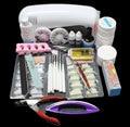 EM-71  Free Shipping Pro Nail Art UV Gel Kits Tool UV lamp Brush Remover nail tips glue acrylic UW,Nail Kit