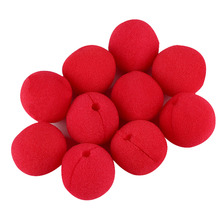 Hot sale 10 pcs Usefull Adorable Red Ball Foam Circus Clown Nose Comic Party Halloween Costume Magic Dress Accessories