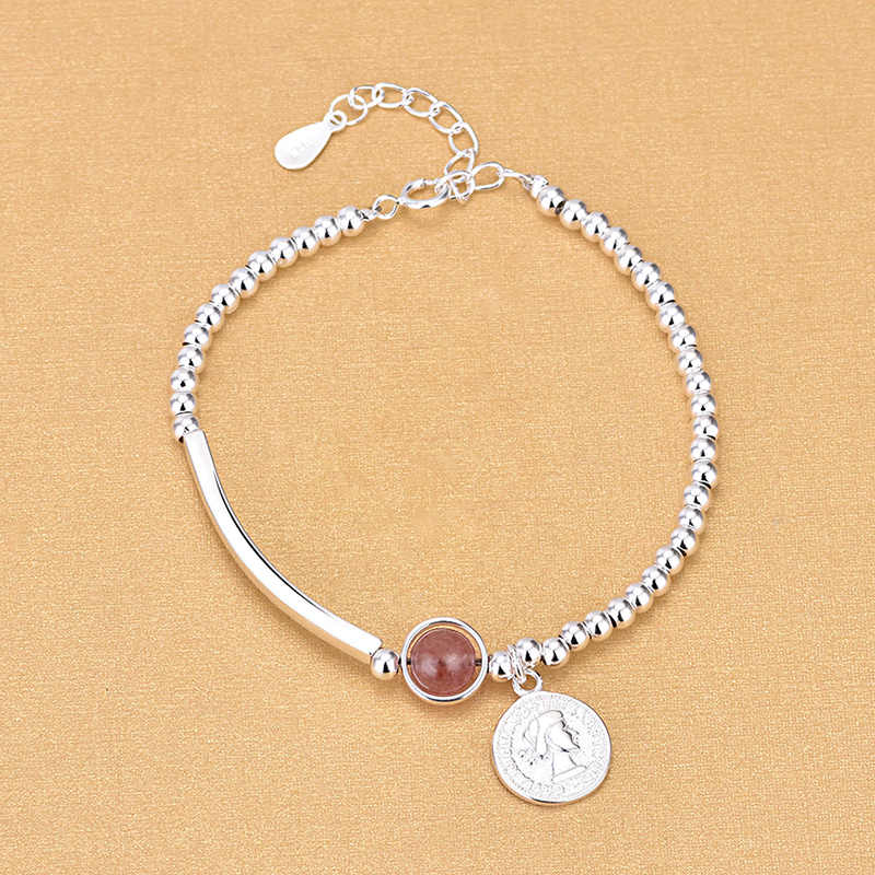 Free Shipping Top Quality Wholesale Real Sterling 925 Silver Beads Bracelets Crystal Charm Bracelets Fine Fashion Bracelets