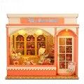 DIY Миниатюрный Деревянный Кукольный Домик SWEET HOUSE Модель Строительство комплекты Милые Куклы Дома Игрушки Девушка Подарок На День Рождения святого валентина Подарок