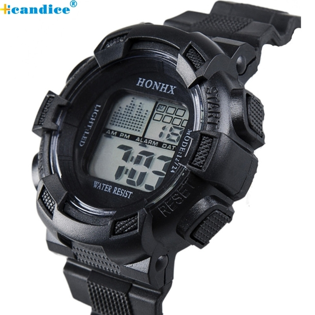 Men Sports Watches Fashion Wristwatch Stainless Steel LED Digital Clock Date Alarm Waterproof Army Quartz Watch Masculino Reloje