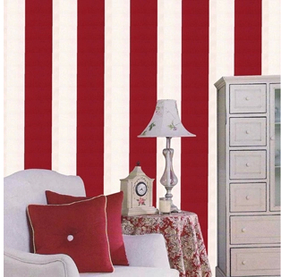 ФОТО Simple Modern Red & White Vertical Striped   White &Blue Vinyl Background