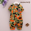 1-4 anos Crianças best selling cotton curto-de mangas compridas camuflagem uniforme militar terno meninos verão casual sports suíte XY11