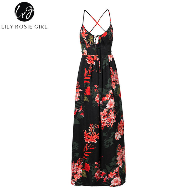 Lily Rosie Red Floral Print...