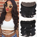 7A Full Lace Frontal Closure 13x4 Body Wave Virgin Brazilian Hair Ear To Ear Top Lace Frontals With Baby Hair Wholesale Price