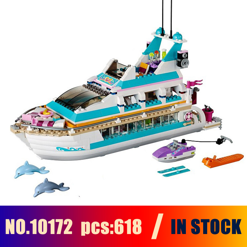 Models Building Toy Dolphin Cruiser Figure 618pcs 10172 Building Blocks Compatible Lego Friends 41015 Toys & Hobbies стоимость