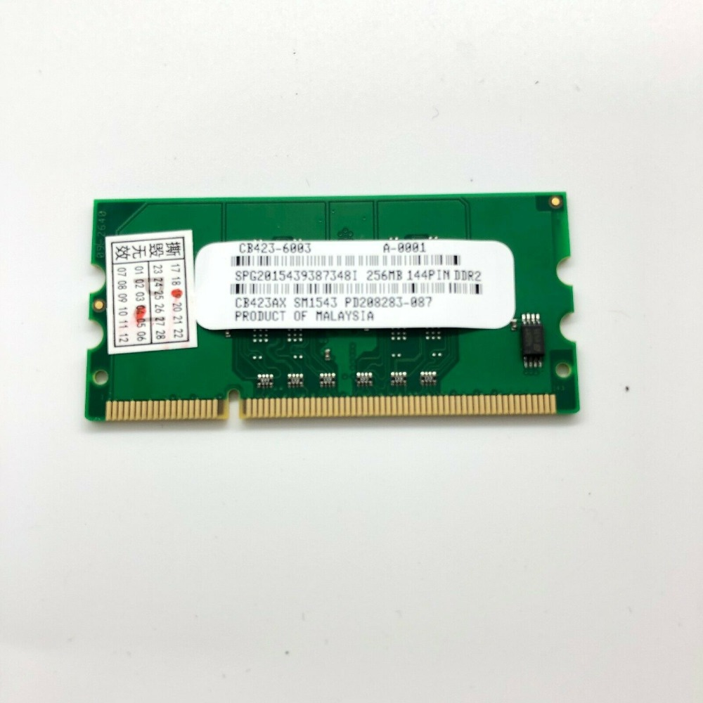 CB423A 256M Memory RAM 144PIN for HP Laserjet P2015 P2055 P3005 CP1510 CP2025 CM2320 5225 Printer