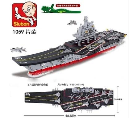 Sluban Model Building Compatible lego Lego B0399 1059pcs Model Building Kits Classic Toys Hobbies Military Liaoning цена