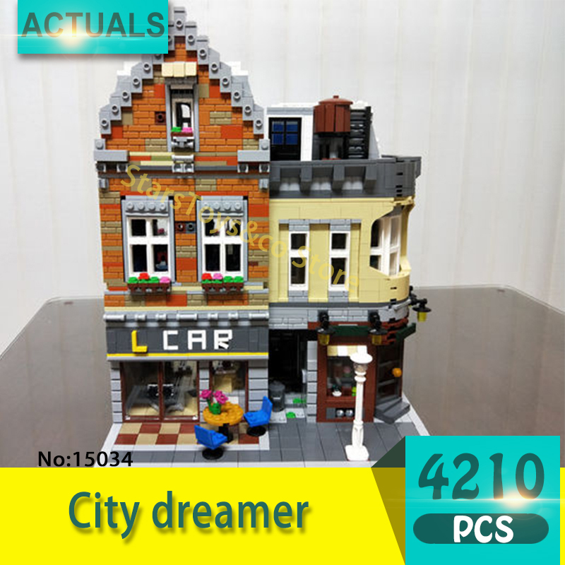 Lepin 15034 4210Pcs Street View series City dreamer Model Building Blocks Set  Bricks Toys For Children Gift Educational toys lepin 02012 774pcs city series deepwater exploration vessel children educational building blocks bricks toys model gift 60095
