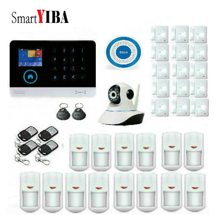 SmartYIB Android IOS APP WIFI Wireless Home Alarm System with IP Camera Residential Alarm Security Alarm GSM for Business Office smartyib whole home alarm systerm business security alert with ios
