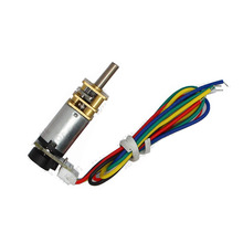 лучшая цена N20 DC geared motor magnetic Hall incremental encoder voltage 6V12V / carbon brush material