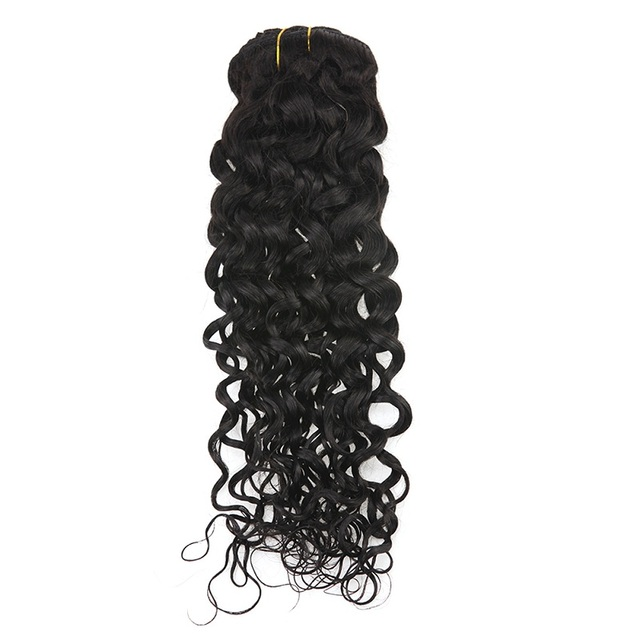 Full Shine 100 Human Hair Clip In Extensions Wavy Real Hair Clips In