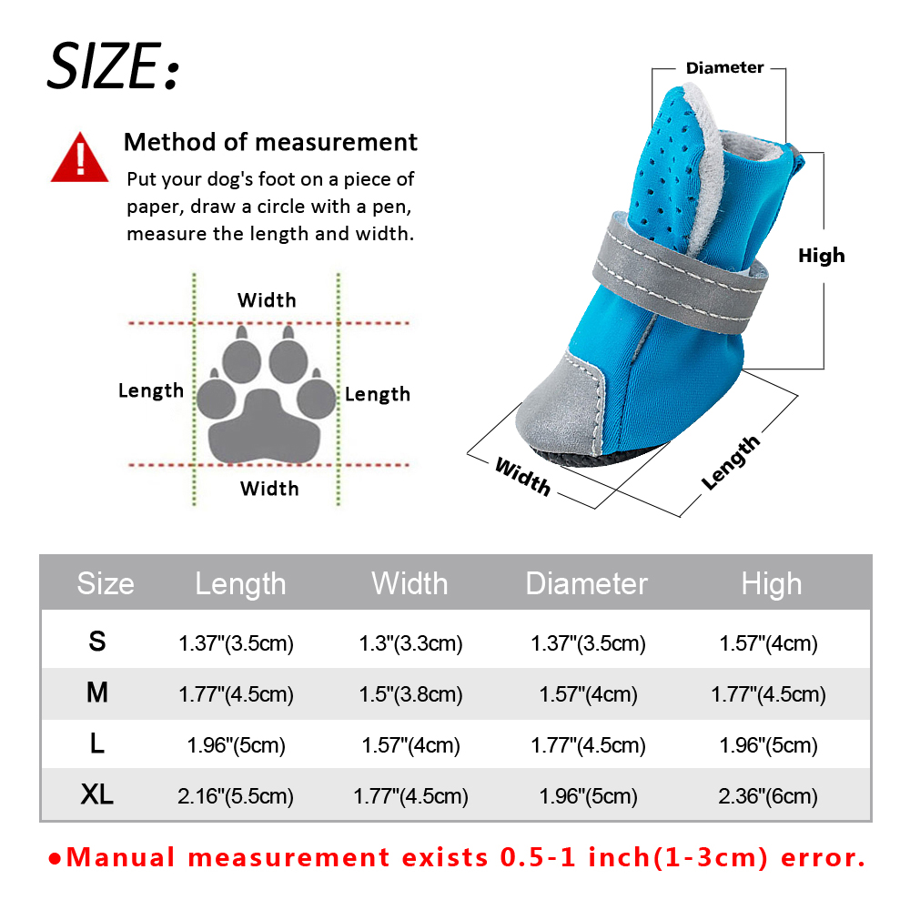 waterproof dog boots size