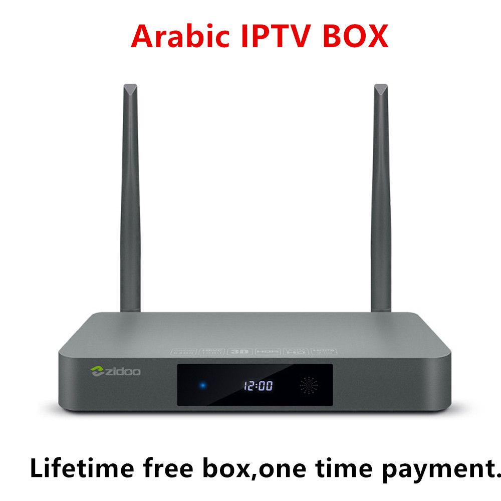 Zidoo X9S Arabic IPTV Box Media Player 4K HDR Smart TV Box Android 6 0  Subscription France Spain Lifetime free 1000+Channels