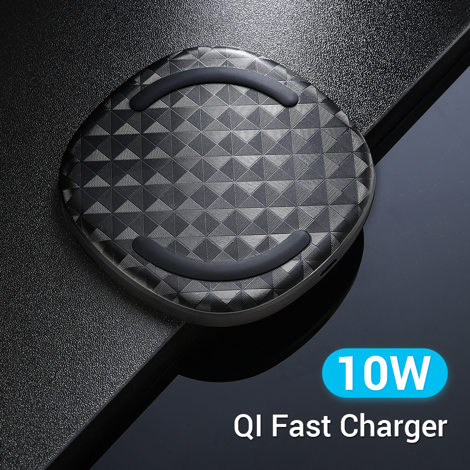 FIVI Wireless Charger Pad Qi Certified for Samsung S10 S9 S8 phone charger for iPhone Xs Max/Xs/X/Xr